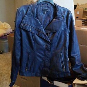 Navy Moto Jacket
